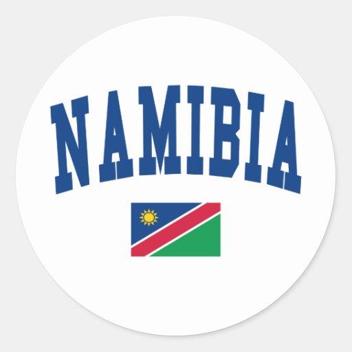 Namibia Style Round Sticker