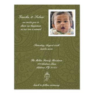 "Namkaran Baby Naming Invitations 4.25"" X 5.5"" Invitation Card"