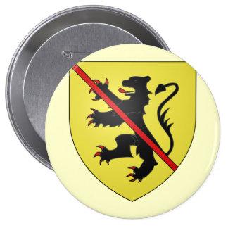 Namur Arms, Belgium 4 Inch Round Button