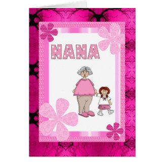 Nana And Granddaughter Card