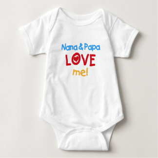 Nana and Papa Love Me Baby Bodysuit