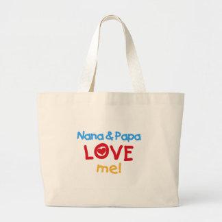 Nana and Papa Love Me Jumbo Tote Bag
