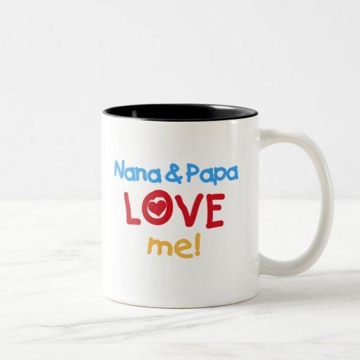 Nana and Papa Love Me Two-Tone Mug