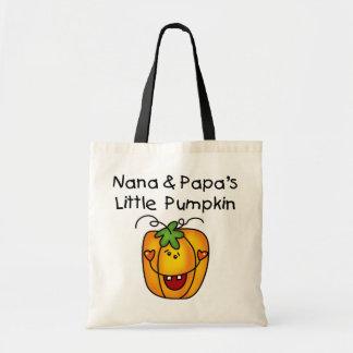 Nana and Papa's Little Pumpkin T-shirts Bag