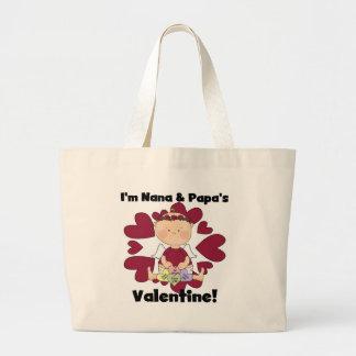 Nana and Papa's Valentine Tshirts Canvas Bags