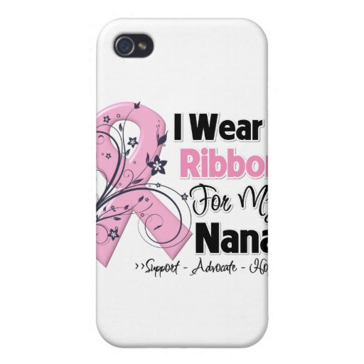 Nana - Breast Cancer Pink Ribbon iPhone 4/4S Covers