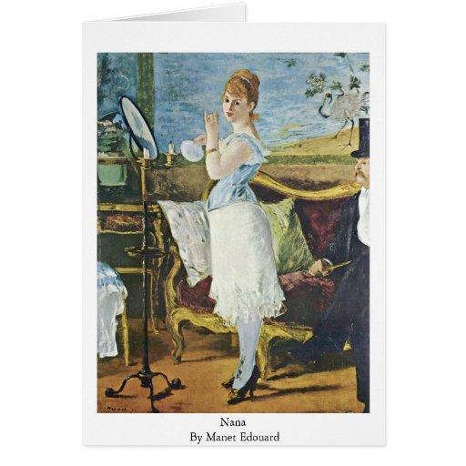 Nana By Manet Edouard Cards