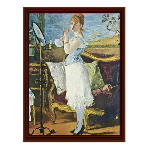 Nana By Manet Edouard Post Cards