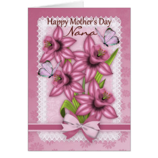 Nana, Mother's Day Card With Daffodils