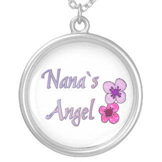 Nana`s Angel Flowers Silver Plated Necklace