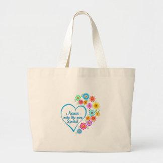 Nana Special Heart Large Tote Bag