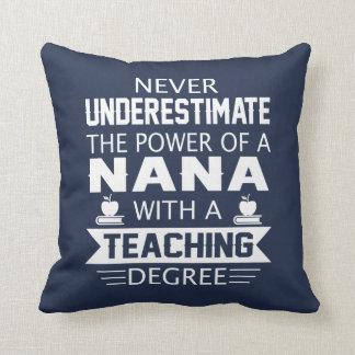 Nana Teacher Throw Pillow