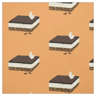 Nanaimo bar smiling fabric