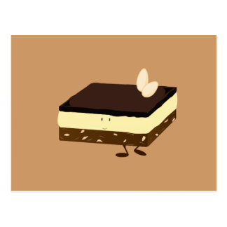 Nanaimo bar smiling postcard