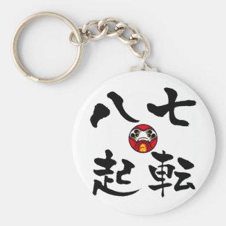 """""""Nanakorobi Yaoki"""" KANJI Keychain"""