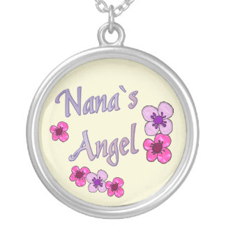 Nana's Angel Flowers Silver Plated Necklace