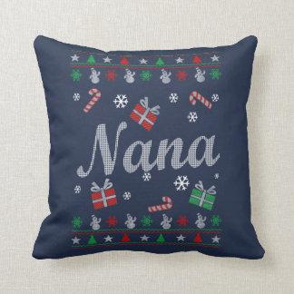 Nana's Christmas Throw Pillow