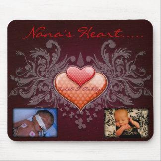 Nana's Heart Mousepad