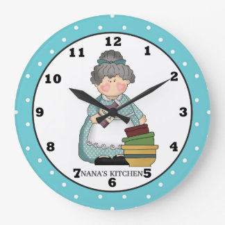 Nana's Kitchen fun wall clock