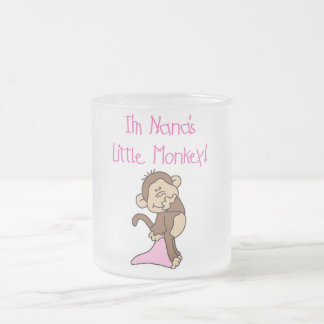 Nana's Monkey - Pink T-shirts and Gifts 10 Oz Frosted Glass Coffee Mug