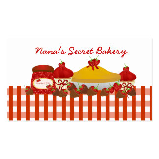 Nana's Secret Bakery Pack Of Standard Business Cards