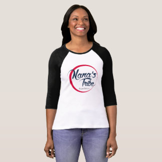 Nana's Tribe Baseball 3/4 Sleeve - Red Logo T-Shirt