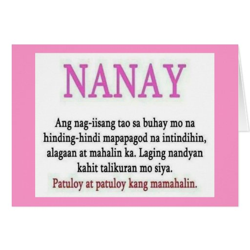 Nanay,mama,mommy,message Cards