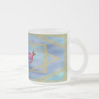 Nancy Frosted Glass Coffee Mug