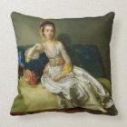 Nancy Parsons in Turkish Dress, c.1771 (oil on cop Throw Pillow