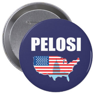 NANCY PELOSI Election Gear 4 Inch Round Button