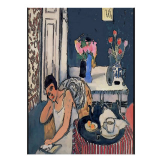 Nancy to BREAK nearly with Flowersl, Matisse kind Poster
