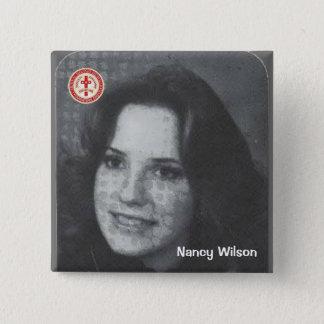 Nancy Wilson 2 Inch Square Button