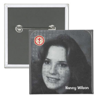 Nancy Wilson 2 Inch Square Button