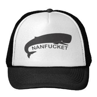 Nanfucket Black Trucker Hat