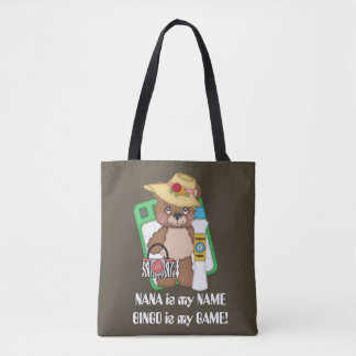 Nanna is my name Bingo is my game bear tote
