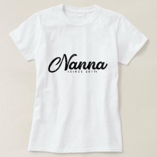 Nanna Since 2017 Nanna T Shirt Grandma Grandparent