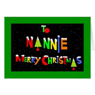 Nannie christmas card