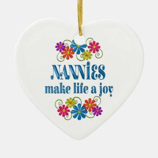 Nannie Joy Ceramic Heart Ornament