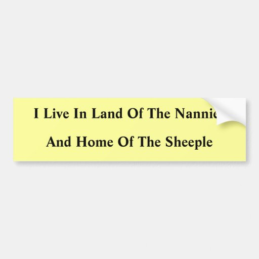 Nannies And Sheeple Bumper Sticker
