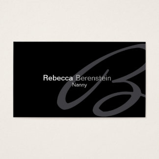 Nanny Business Card Fancy Monogram