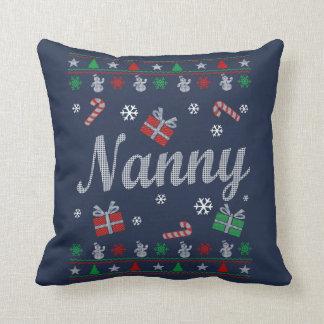 Nanny Christmas Throw Pillow