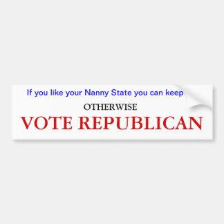 Nanny State Bumper Sticker