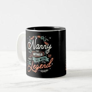 Nanny The Legend Two-Tone Coffee Mug