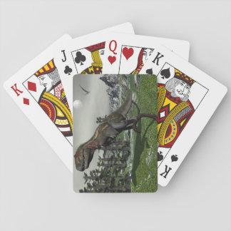 Nanotyrannus dinosaur - 3D render Playing Cards