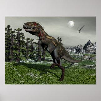 Nanotyrannus dinosaur - 3D render Poster