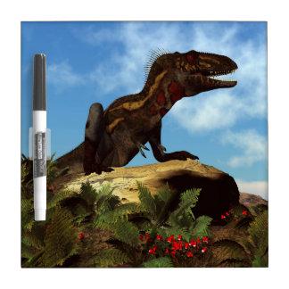 Nanotyrannus dinosaur resting - 3D render Dry Erase Board