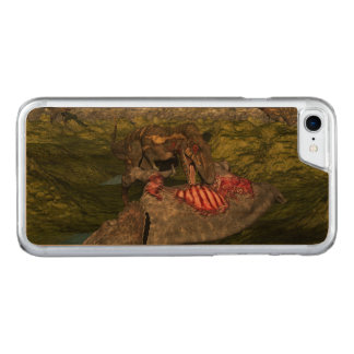Nanotyrannus eating dead triceratops carved iPhone 7 case