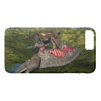 Nanotyrannus eating dead triceratops iPhone 8 plus/7 plus case