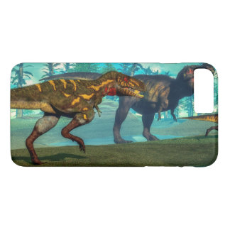 Nanotyrannus hunting small tyrannosaurus iPhone 7 plus case