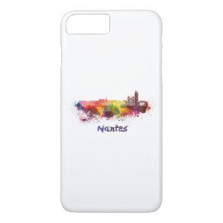 Nantes skyline in watercolor iPhone 8 plus/7 plus case